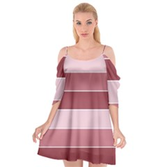 Striped Shapes Wide Stripes Horizontal Geometric Cutout Spaghetti Strap Chiffon Dress