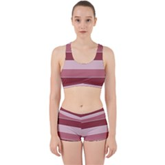 Striped Shapes Wide Stripes Horizontal Geometric Work It Out Gym Set
