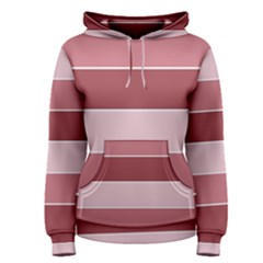 Striped Shapes Wide Stripes Horizontal Geometric Women s Pullover Hoodie
