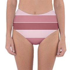 Striped Shapes Wide Stripes Horizontal Geometric Reversible High Waist Bikini Bottoms