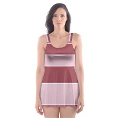 Striped Shapes Wide Stripes Horizontal Geometric Skater Dress Swimsuit