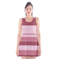 Striped Shapes Wide Stripes Horizontal Geometric Scoop Neck Skater Dress