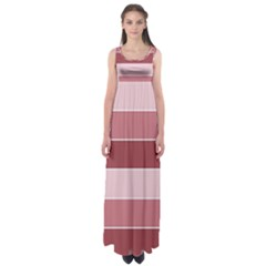 Striped Shapes Wide Stripes Horizontal Geometric Empire Waist Maxi Dress