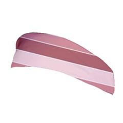 Striped Shapes Wide Stripes Horizontal Geometric Stretchable Headband