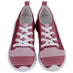 Striped Shapes Wide Stripes Horizontal Geometric Women s Lightweight Sports Shoes