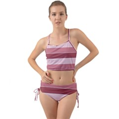 Striped Shapes Wide Stripes Horizontal Geometric Mini Tank Bikini Set