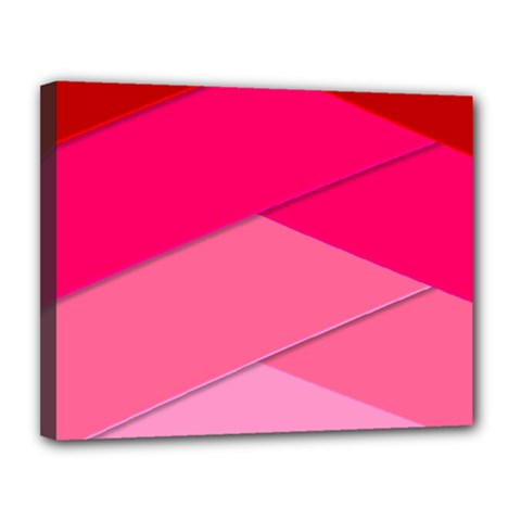 Geometric Shapes Magenta Pink Rose Canvas 14  X 11  by Nexatart