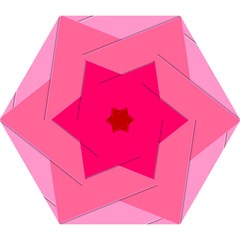 Geometric Shapes Magenta Pink Rose Mini Folding Umbrellas