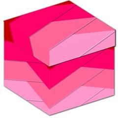 Geometric Shapes Magenta Pink Rose Storage Stool 12