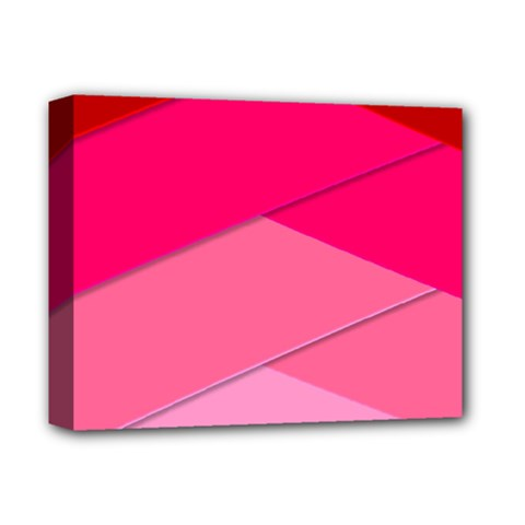 Geometric Shapes Magenta Pink Rose Deluxe Canvas 14  X 11