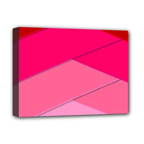 Geometric Shapes Magenta Pink Rose Deluxe Canvas 16  X 12