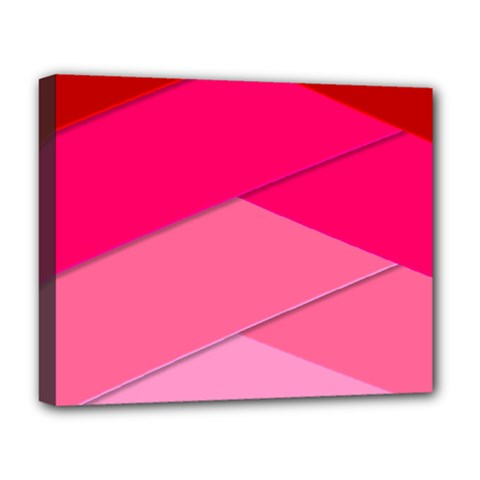 Geometric Shapes Magenta Pink Rose Deluxe Canvas 20  X 16   by Nexatart