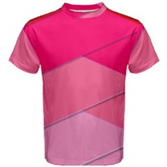 Geometric Shapes Magenta Pink Rose Men s Cotton Tee