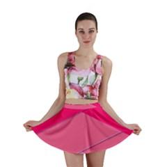 Geometric Shapes Magenta Pink Rose Mini Skirt
