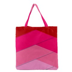 Geometric Shapes Magenta Pink Rose Grocery Tote Bag