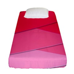 Geometric Shapes Magenta Pink Rose Fitted Sheet (single Size)