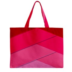 Geometric Shapes Magenta Pink Rose Zipper Mini Tote Bag