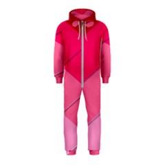 Geometric Shapes Magenta Pink Rose Hooded Jumpsuit (kids)