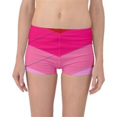 Geometric Shapes Magenta Pink Rose Boyleg Bikini Bottoms