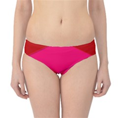Geometric Shapes Magenta Pink Rose Hipster Bikini Bottoms