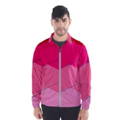 Geometric Shapes Magenta Pink Rose Wind Breaker (men)