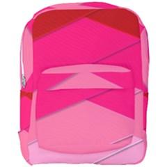Geometric Shapes Magenta Pink Rose Full Print Backpack by Nexatart