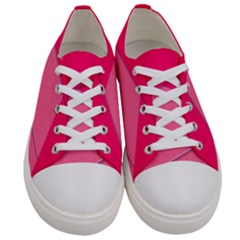 Geometric Shapes Magenta Pink Rose Women s Low Top Canvas Sneakers
