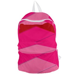 Geometric Shapes Magenta Pink Rose Foldable Lightweight Backpack by Nexatart