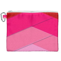 Geometric Shapes Magenta Pink Rose Canvas Cosmetic Bag (xxl) by Nexatart