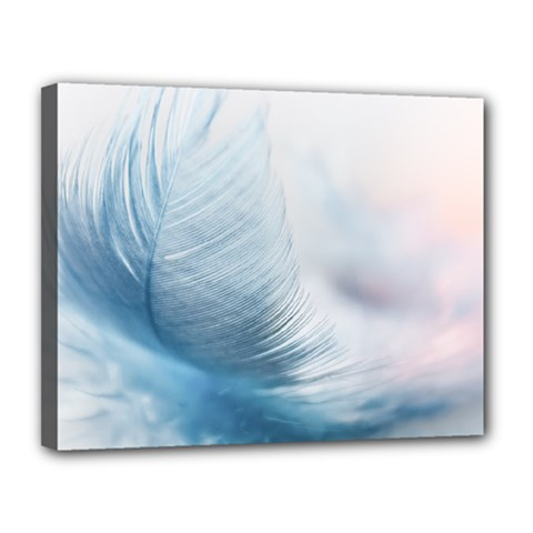 Feather Ease Slightly Blue Airy Canvas 14  X 11