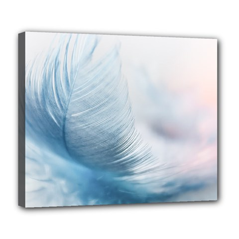 Feather Ease Slightly Blue Airy Deluxe Canvas 24  X 20