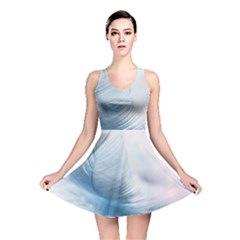 Feather Ease Slightly Blue Airy Reversible Skater Dress