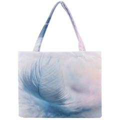 Feather Ease Slightly Blue Airy Mini Tote Bag