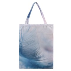 Feather Ease Slightly Blue Airy Classic Tote Bag