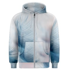Feather Ease Slightly Blue Airy Men s Zipper Hoodie