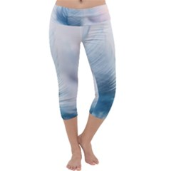 Feather Ease Slightly Blue Airy Capri Yoga Leggings