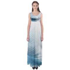 Feather Ease Slightly Blue Airy Empire Waist Maxi Dress