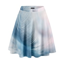 Feather Ease Slightly Blue Airy High Waist Skirt