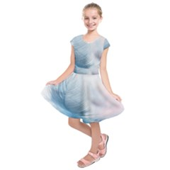 Feather Ease Slightly Blue Airy Kids  Short Sleeve Dress