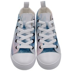 Feather Ease Slightly Blue Airy Kid s Mid Top Canvas Sneakers