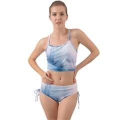 Feather Ease Slightly Blue Airy Mini Tank Bikini Set