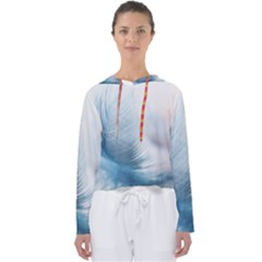 Feather Ease Slightly Blue Airy Women s Slouchy Sweat
