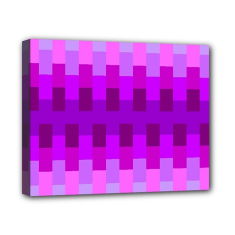Geometric Cubes Pink Purple Blue Canvas 10  X 8