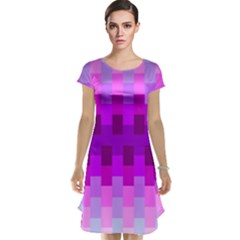 Geometric Cubes Pink Purple Blue Cap Sleeve Nightdress