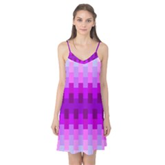Geometric Cubes Pink Purple Blue Camis Nightgown