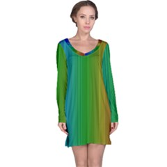 Spectrum Colours Colors Rainbow Long Sleeve Nightdress