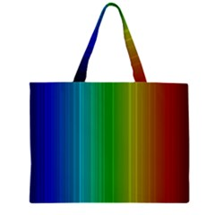 Spectrum Colours Colors Rainbow Zipper Large Tote Bag