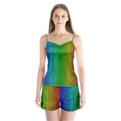 Spectrum Colours Colors Rainbow Satin Pajamas Set