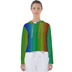 Spectrum Colours Colors Rainbow Women s Slouchy Sweat