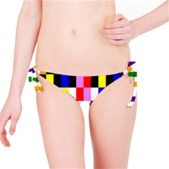 Rainbow Color Blocks Red Orange Bikini Bottom